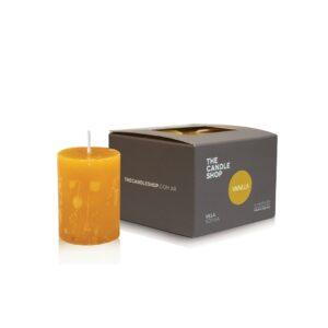 Vela-aromatica-votiva-caja-aroma-vainilla